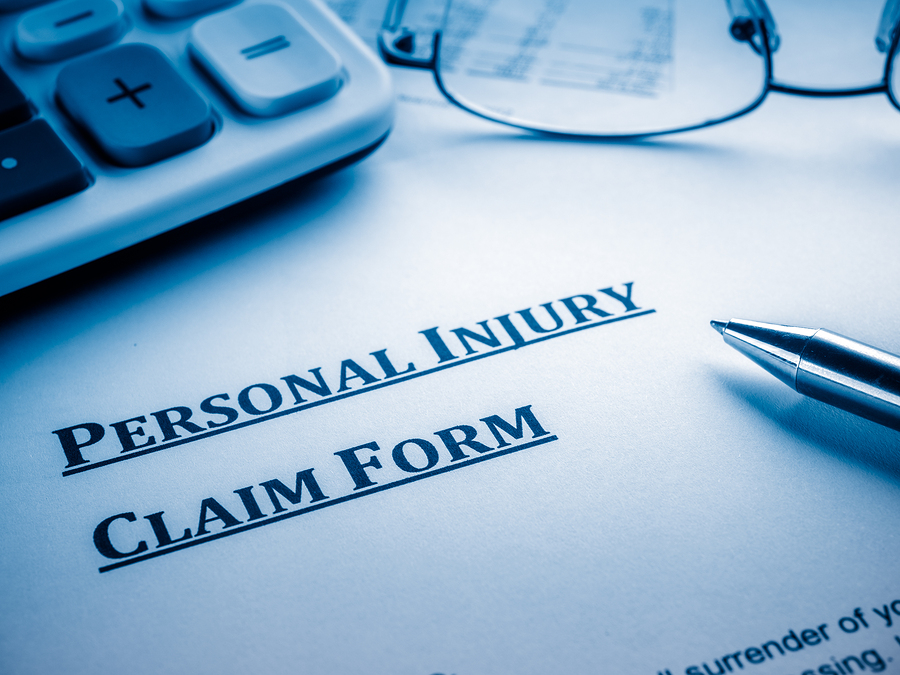 personal injury claim form for catastrophic accident